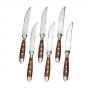 6 ножей для мяса серия NURNBERG от GRAWE коричневая