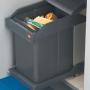 Выдвижное мусорное ведро Hailo Solo 20л  3634-10