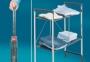 Сервировочный столик складной на колесах универсальный