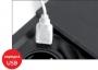 Встраиваемая розетка EVOline Square80 с Qi и USB зарядкой