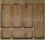 Универсальный деревянный лоток для столовых приборов бук