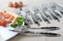 Набор из 12 вилок и ножей для мяса NURNBERG от GRAWE черная ручк