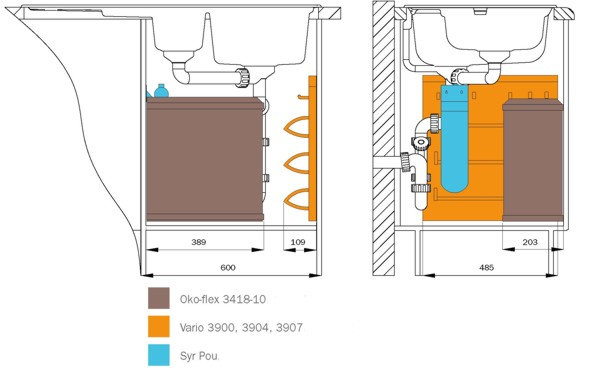 кухонного распашного шкафа под
